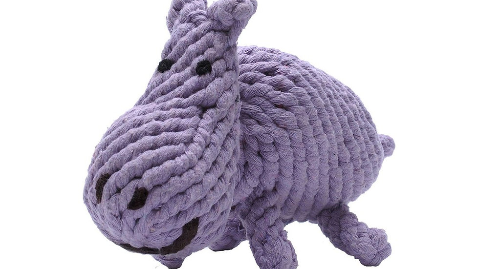 Hippo Rope Toy Lg