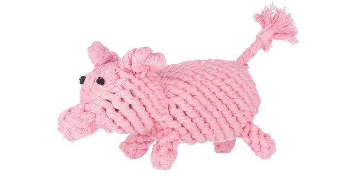Pig Rope Toy Jumbo