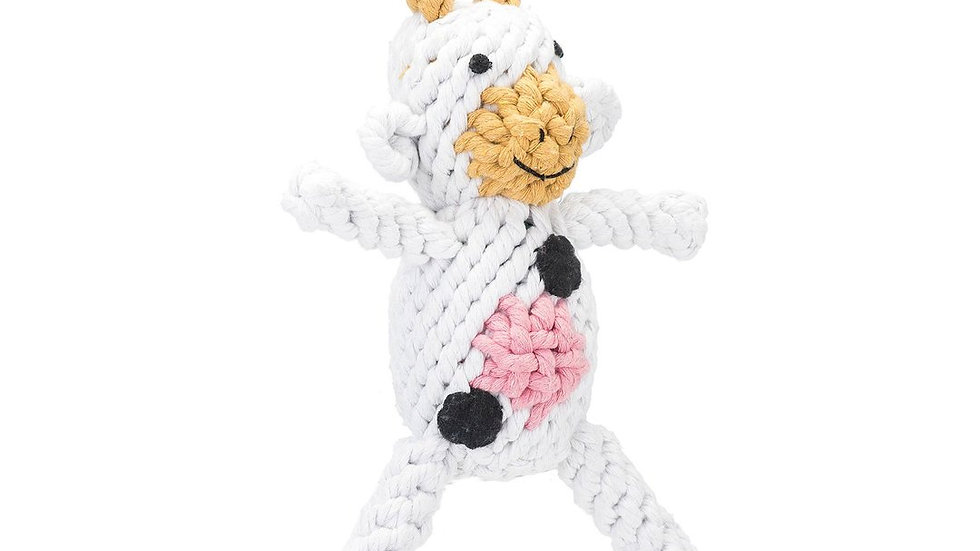Cow Rope Toy Lg