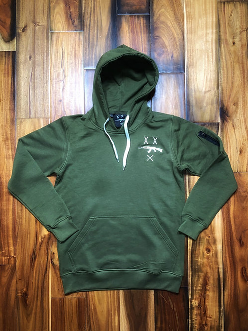 #FREEZILLA EMBROIDERED POCKET SIZE LOGO HOODIE