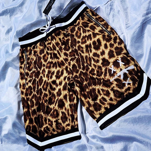 #FreeZilla Leopard Print Basketball Shorts