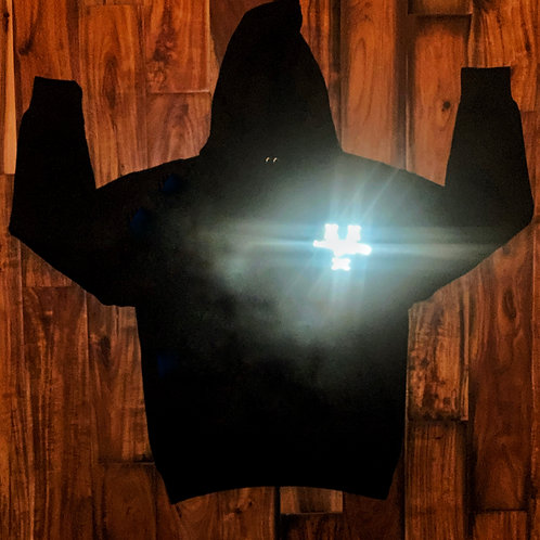 #FreeZilla Reflective Chest Logo Hoodie