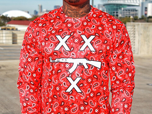 #FREEZILLA RED BANDANNA LONG SLEEVE