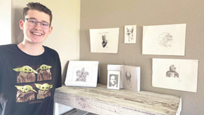 Young, local artist ready to share his talent
