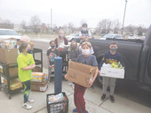 Local business matching monetary donations to Tea food pantry