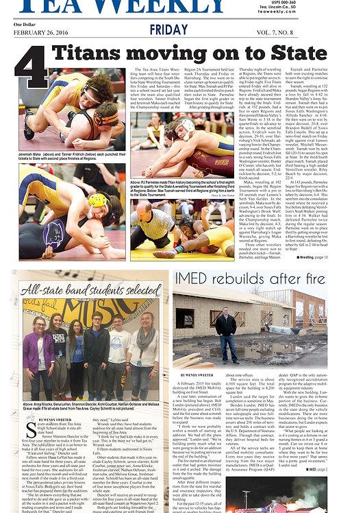 Single Newspaper (1 issue)