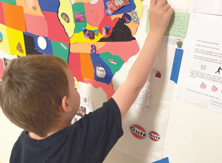 Local grandparent creates learning by mail project