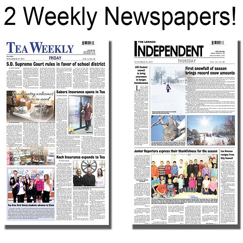 Tea Weekly & Lennox Independent COMBO