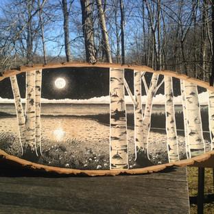 Lakefront Birches