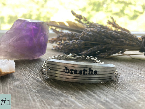 'Breathe' Mantra Bracelets