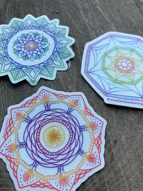 Transparent Mandala Stickers