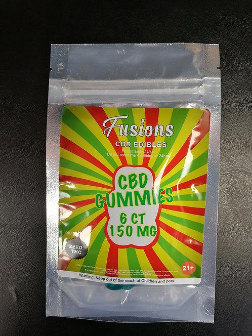 WS of Fusions : CBD Edibles - Gummies 6CT / 150MG
