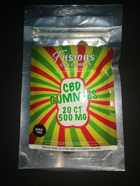 WS of Fusions : CBD Edibles - Gummies 20CT / 500MG