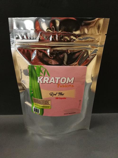 Kratom Fusions : Red Thai - 200 Capsules