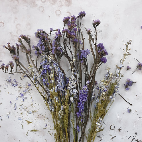 Dried Flower Selection - Sea of Blue