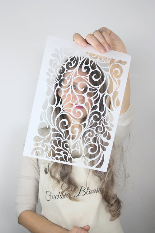 Milano Swirls A4 Wafer Paper Cut Out Sheets x3