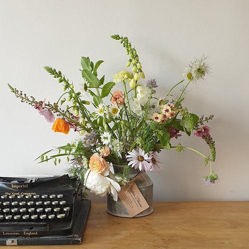 Mini Milkchurn Meadow Florals