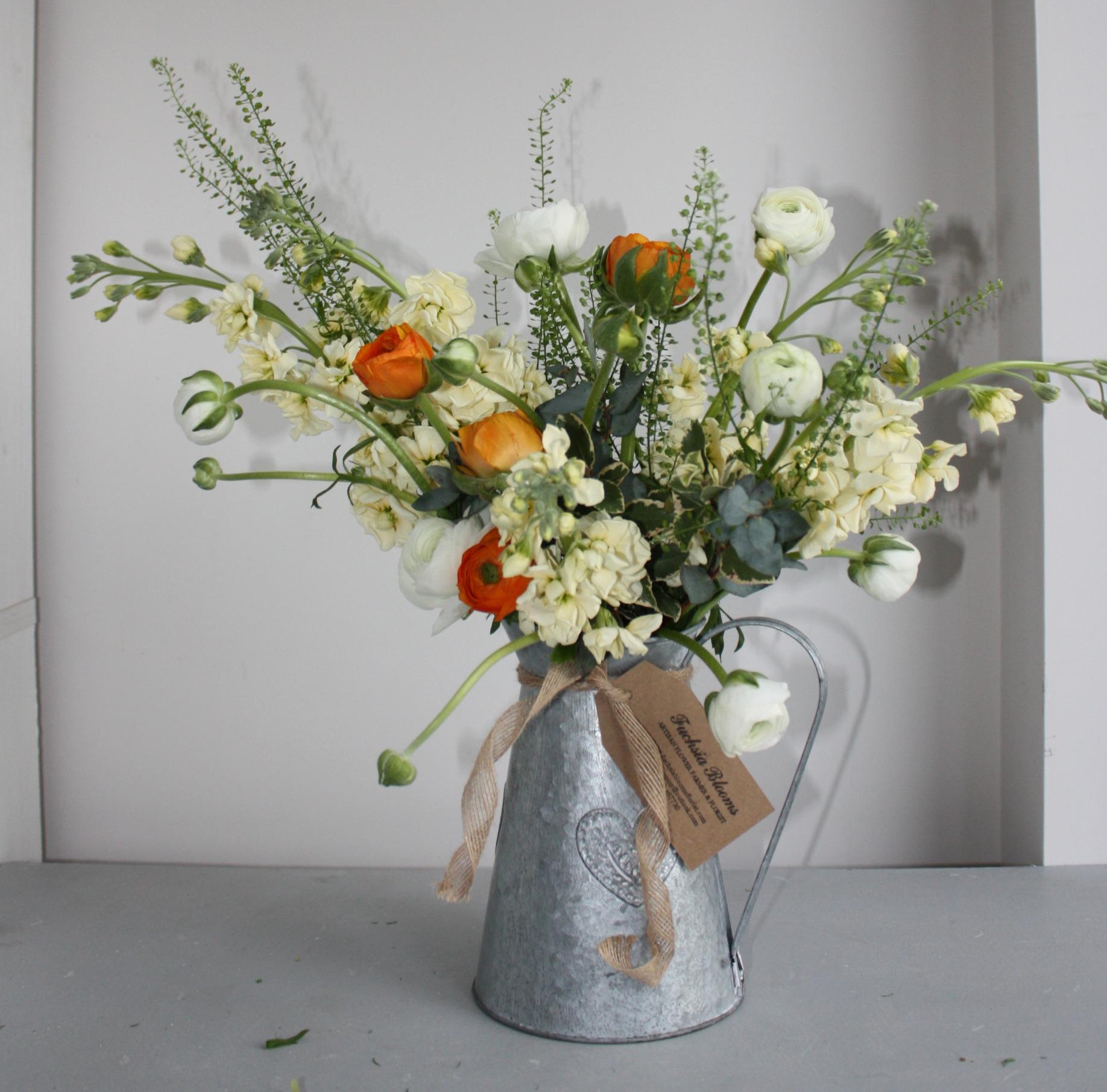 Galvanised Jug Bouquet