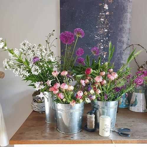 DIY Flowers Bucket