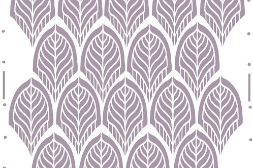 Leaf Trellis re useable stencil A4