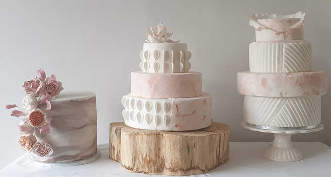 Sugarpaste Wedding cake trio .jpg