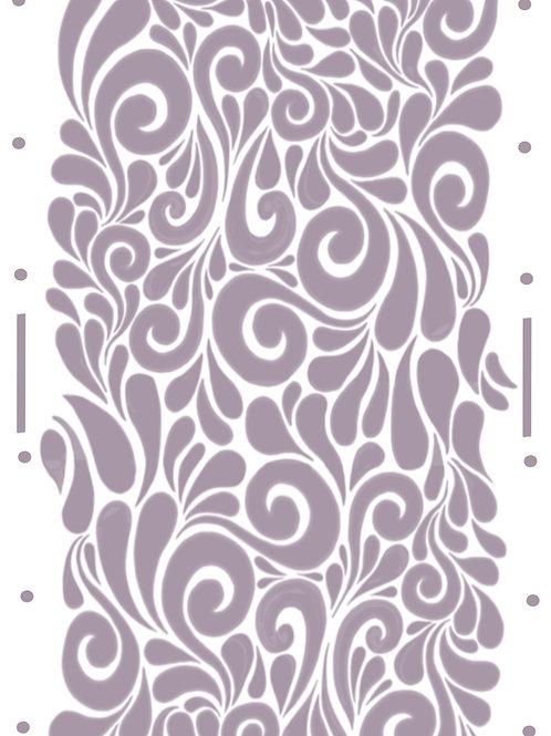 Milano Swirls re useable stencil A4