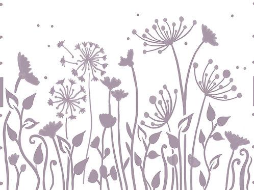 Flower Meadow re useable stencil A4