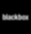blackbox logo, white font, white foreground, black background