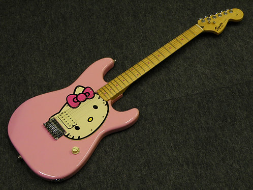 Squier/Hello Kitty Stratocaster pink