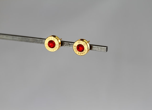 Red Crystal in Gold Casing