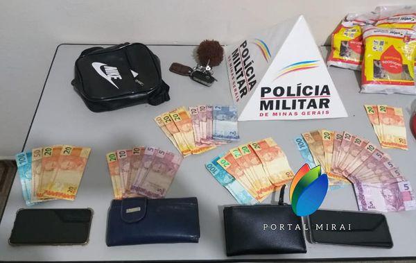 Indivíduos de Eugenópolis são presos em Miraí passando notas falsas.