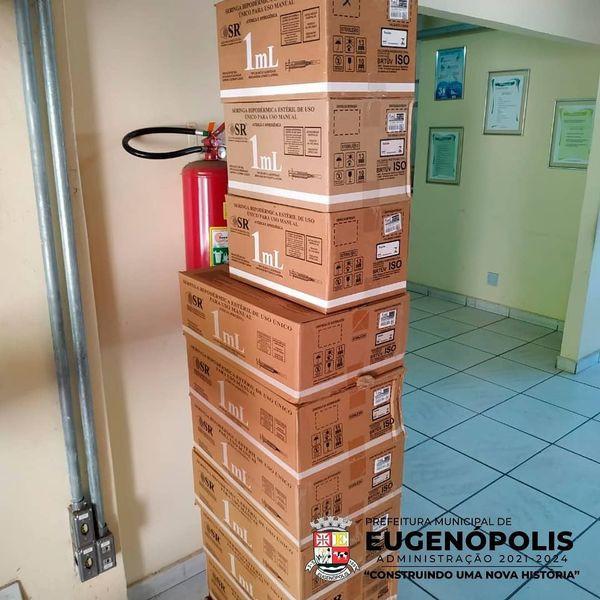 Eugenópolis receberá 2500 seringas da primeira remessa da vacina do Covid