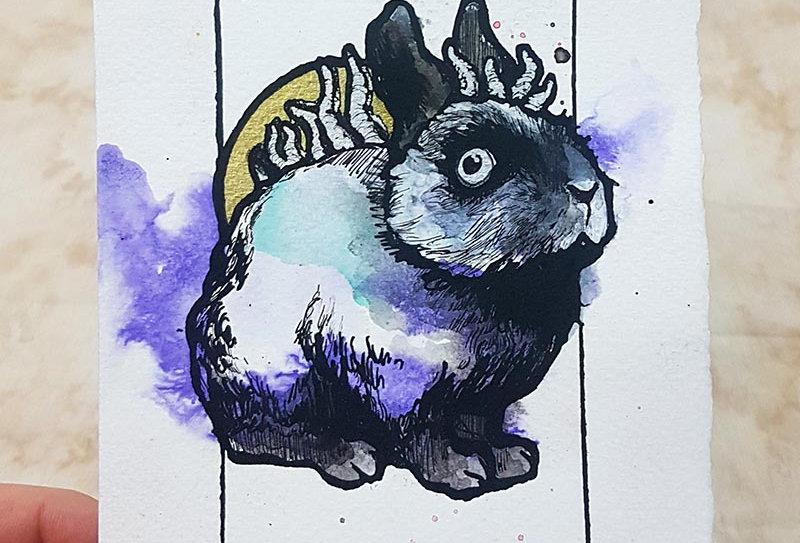 Purple Moon Bunny