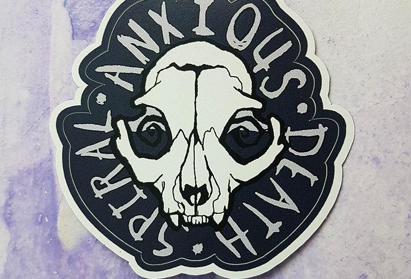 Anxious death spiral sticker (old version)