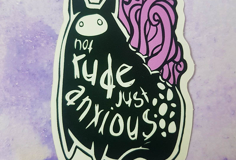 Not rude just anxious sticker
