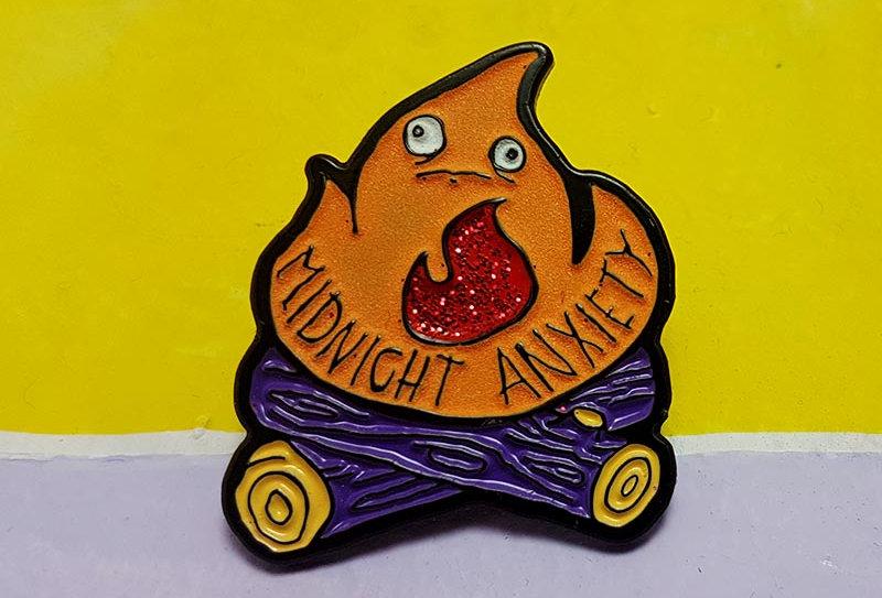 Midnight Anxiety Lapel Pin