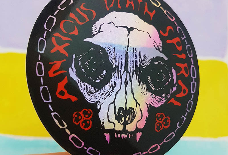 Anxious Death Spiral sticker (holographic)