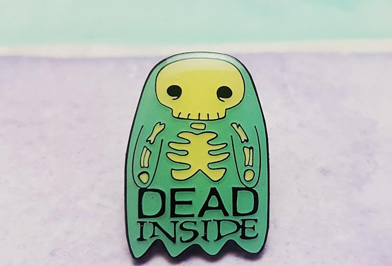 Dead Inside lapel pin