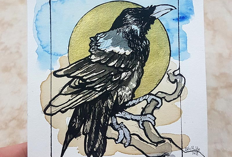 Three Legged Crow