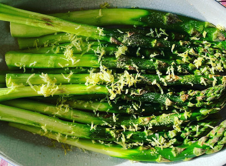 oven-roasted green asparagus