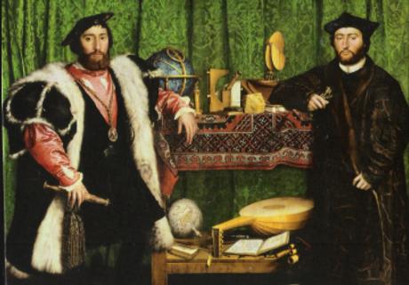 Les Ambassadeurs, Hans Holbein.PNG