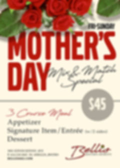 bellis bistro and spirits mothers day.jp