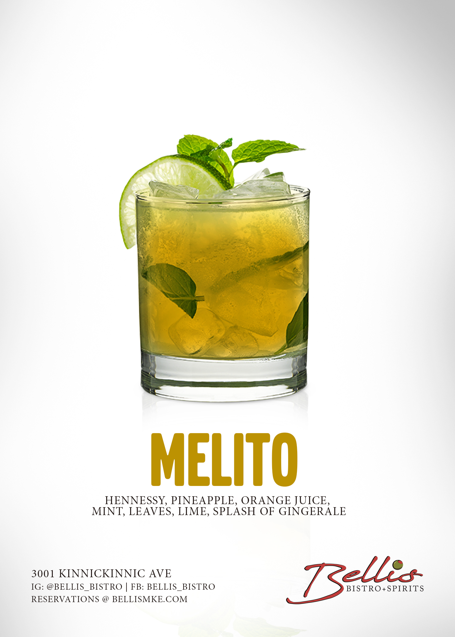 bellis bistro and spirits henny mojito