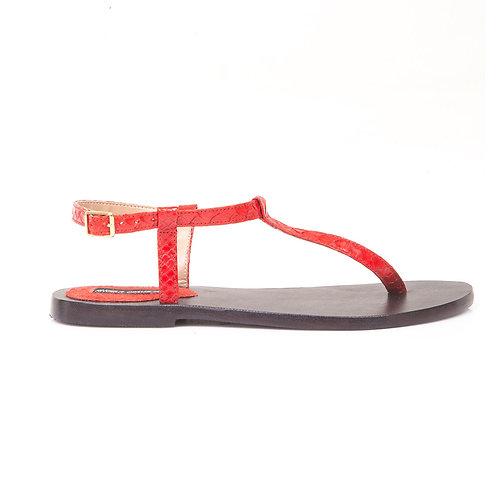 Sandália de píton