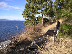 Bench overlooking Flathead Lake.JPG