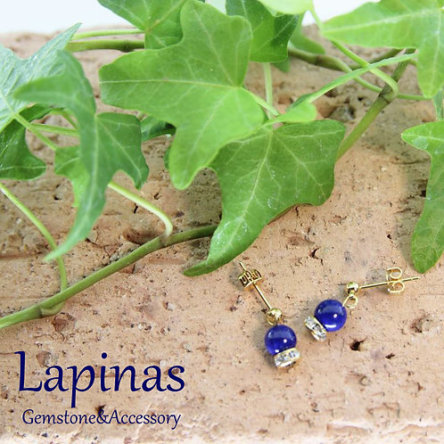 ラピスラズリのピアス(CP14)