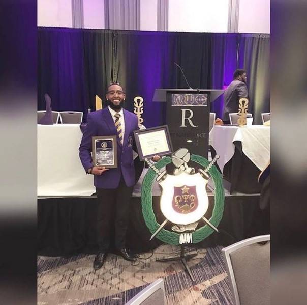 Reuel was a Spring 2017 initiate of the Chi Tau Tau Chapter of Omega Psi Phi Fraternity, Inc., having been inducted into the Mighty 7th District Ques Honor Society, was the recipient of a Academic Excellence Award and the Founders Memorial Scholarship.