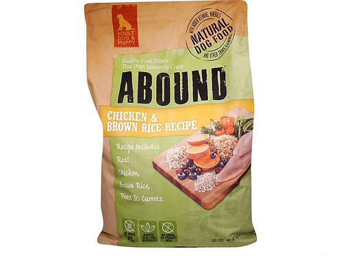 Abound Natural Dog Food Chicken & Brown Rice ) Sold in Packs