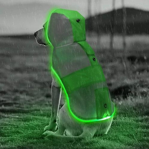Road Safety waterproof LED raincoat
