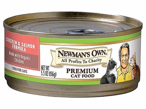 Newman's Own Premium Chicken & Salmon Formula Cat Food 5.5 oz